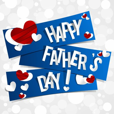 Happy Father s Day Greeting Card vector illustration Vetores
