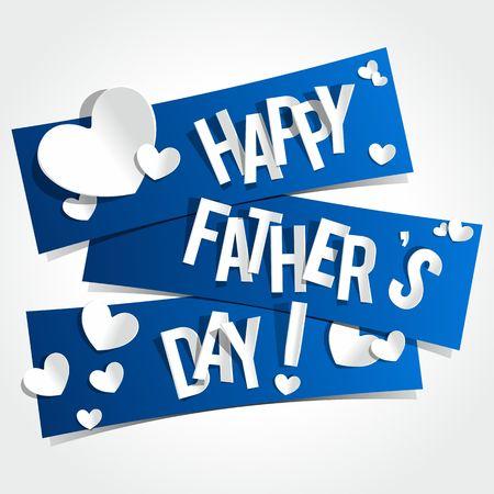 幸せな父 s の日グリーティング カード ベクトル イラスト  イラスト・ベクター素材