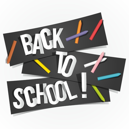 Back To School Banners vector illustration Vector
