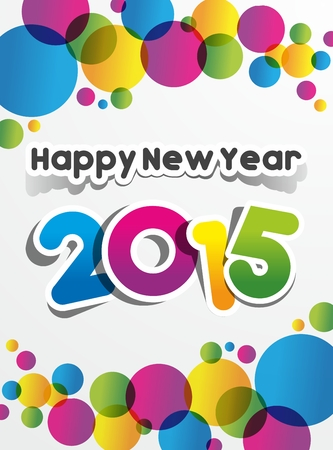Happy New Year 2015 Greeting Card vector illustration Vector
