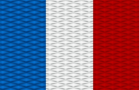 Creative Abstract Blue, White, Red Flag of France Background Vector