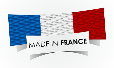 Creative Abstract Made in France Badge illustration Vector