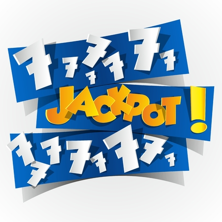 Creative Abstract Jackpot symbol illustration Vector