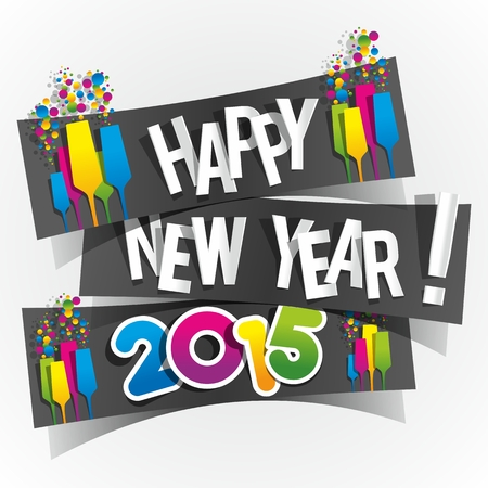 Happy New Year 2015 Greeting Card Stok Fotoğraf - 27244505