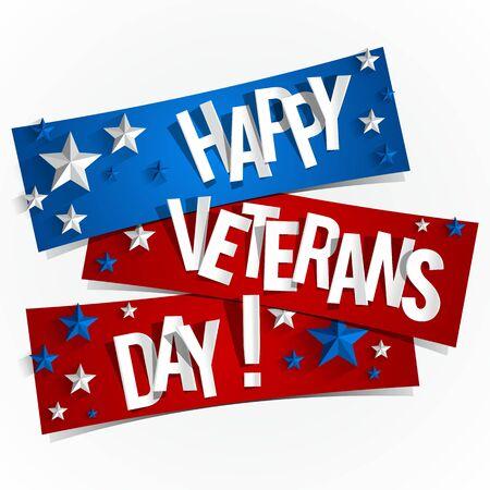 Creative Abstract Happy Veterans Day Illustration