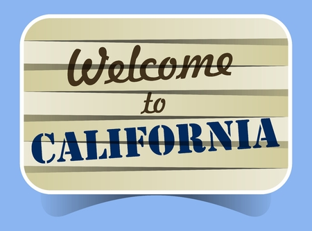 Abstract Welcome To California Banner vector Illustration Vector