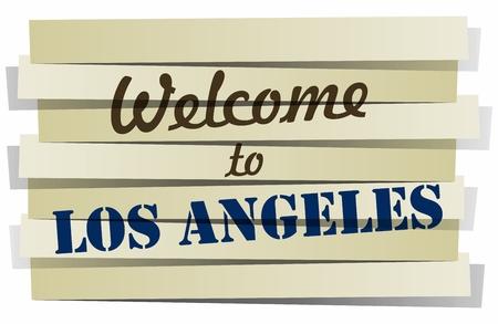 los angeles: Abstrakt Willkommen bei Los Angeles Banner Vektor-Illustration