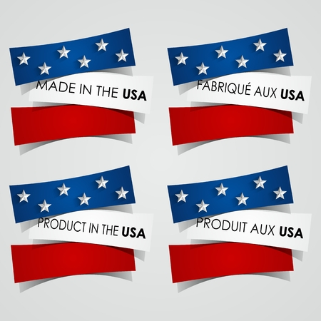 Creative Abstract Made in the USA Badges vector illustration Vector