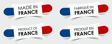 Creative Abstract Made in France Badges  Vector