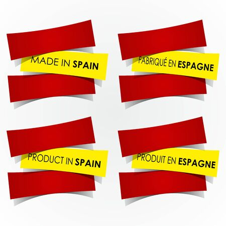 Abstract Made In Spain Badges vector illustration Vector
