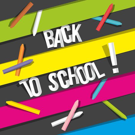 Creative Back To School Background vector illustration