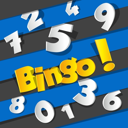 Creative Abstract Bingo, Jackpot symbol vector illustration Vector