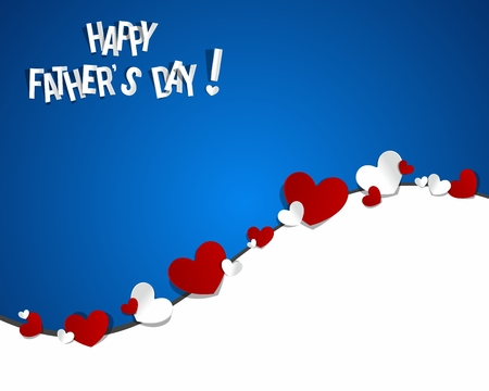 Happy Father s Day With Hearts vector illustration