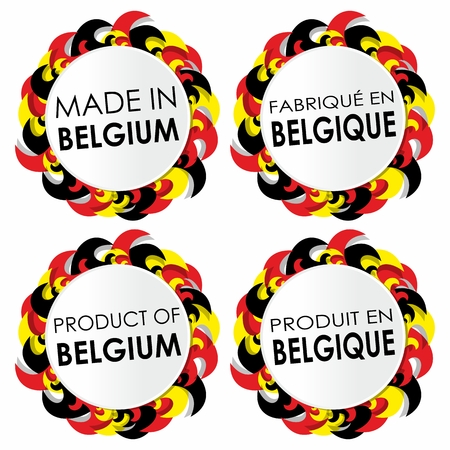 Abstract Made In Belgium Badges vector illustration Vector