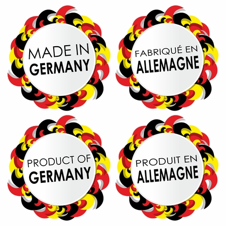 Abstract Made In Germany Badges vector illustration Vector
