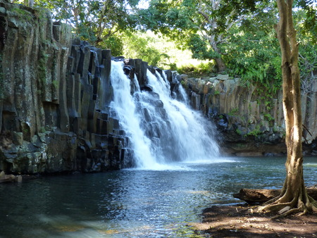 Rochester Falls In Mauritius Island Stok Fotoğraf