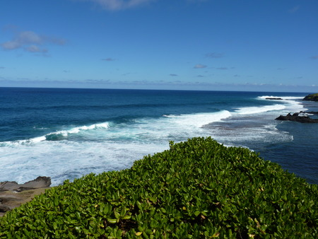qui: Beach At Gris Gris Cliff In Souillac, South Of Mauritius Island