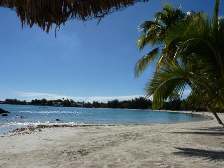 Beach Of Grand Baie, North Of Mauritius Island Stok Fotoğraf