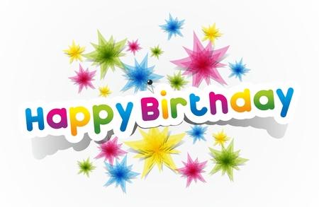 Colorida del feliz cumpleaños Tarjetas Ilustración vectorial