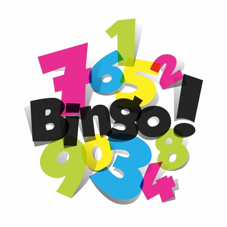 Creative Abstract Bingo, Jackpot symbol vector illustration Çizim