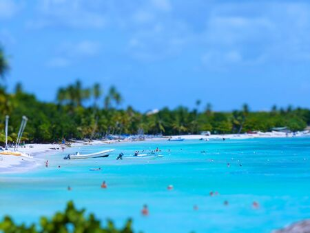 Tilt Shift Of Beach of Bayahibe, Dominican Republic photo