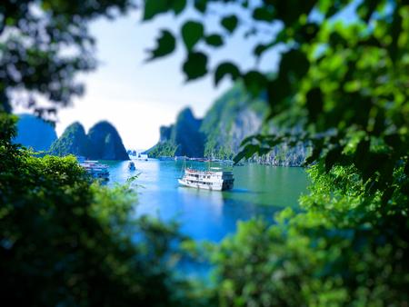 tilt: Tilt Shift Of The famous Halong Bay, Vietnam