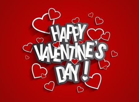 幸せ Valentine\  イラスト・ベクター素材