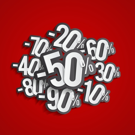 Creative Abstract Hard Discount Big Sale On Backgrounds vector illustration Vector