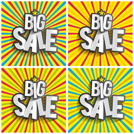 Creative Abstract Hard Discount Big Sale On Radial Rays Backgrounds vector illustration