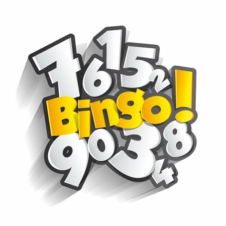 Creative Abstract Bingo, Jackpot symbol illustration Vector