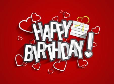 Colorful Happy Birthday Greeting Card Vector Illustration Ilustrace