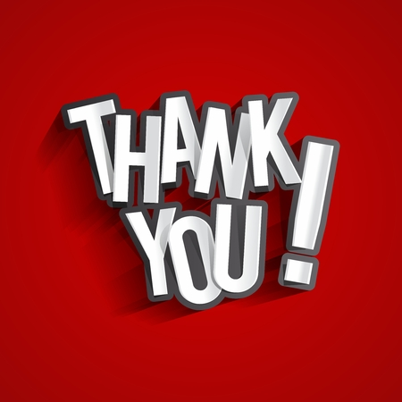 Creatieve Dank U, tonen Dankbaarheid Ontwerp Stock Illustratie