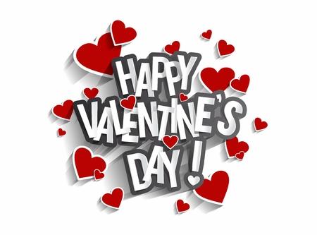 Feliz Día De San Valentín Ilustración Vectorial Tarjeta De Felicitación  Vectores