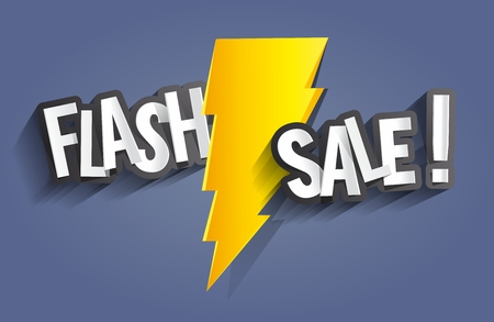 spring sale: Flash Sale Design With Thunder vector illustration Illustration