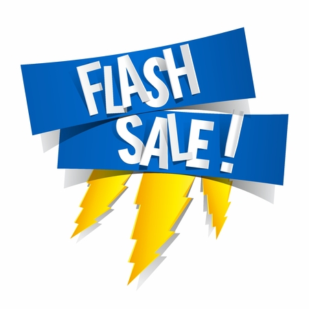Flash Sale Design With Thunder vector illustration Çizim