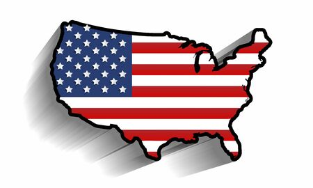 Creative Abstract USA Map Design vector illustration Vector