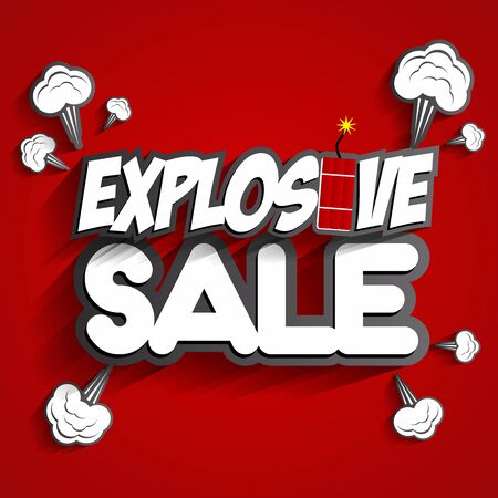 Creative Abstract Explosive Sale Design On Background vector illustration Vector