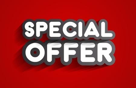 super market: Creative Abstract Special Offer Sale Design On Background vector illustration Illustration