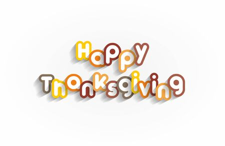 Happy Thanksgiving Design On background vector illustration Vector