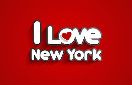 I Love New York Design On Red Background vector illustration Vector