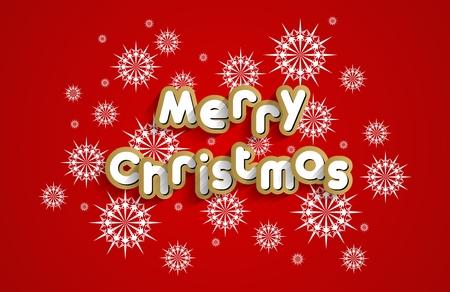 Creative Merry Christmas Greeting Card vector illustration Vector