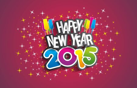 new opportunity: Happy New Year 2015 Greeting Card vector illustration Illustration