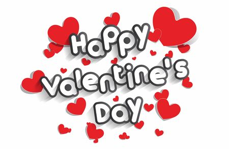 shiny day: Happy Valentines Day Greeting Card vector illustration