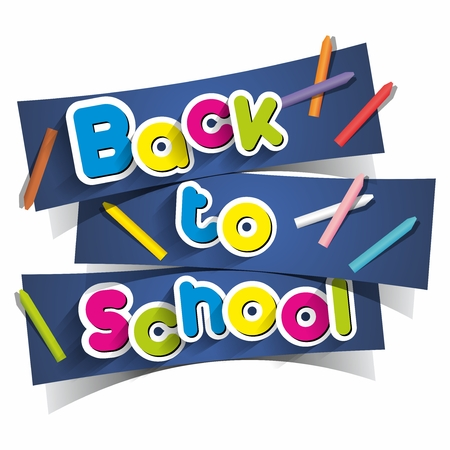 secondary colors: Creative Concept With Back To School Theme vector illustration