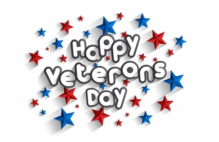 Creative Abstract Happy Independence, Veterans Day vector illustration