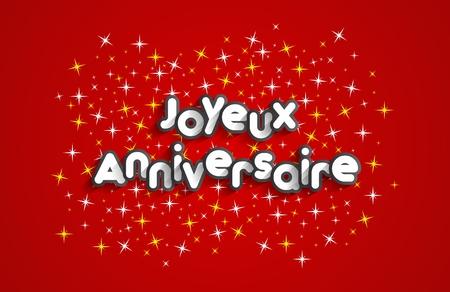 happy kid: Happy Birthday Greeting Card On Stars Background vector illustration Illustration