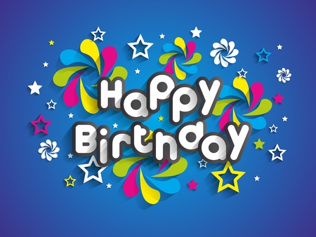 greeting card: Happy Birthday Greeting Card On Background vector illustration
