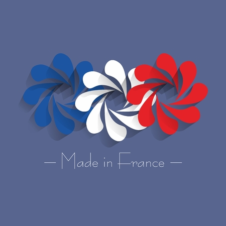 Creative Abstract Made in France vector illustration Vector