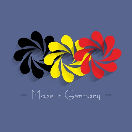 made in germany: Abstract Made In Germany vector illustration