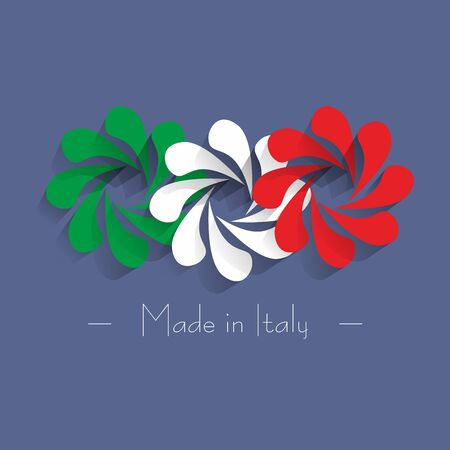 made in italy: Creative Abstract Made in Italy vector illustration Illustration